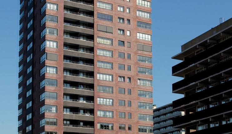 Recystel stelkozijnprofielen - De Binnenhof - Rotterdam - Binnenhoftoren